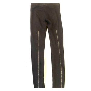 BCBG thick leggings with back zippers
